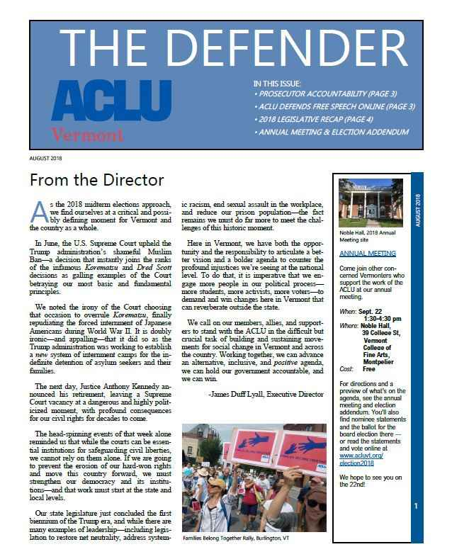 The Defender August 2018
