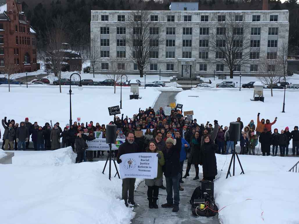 Crowd at VT Racial Justice Rally 3-17-17