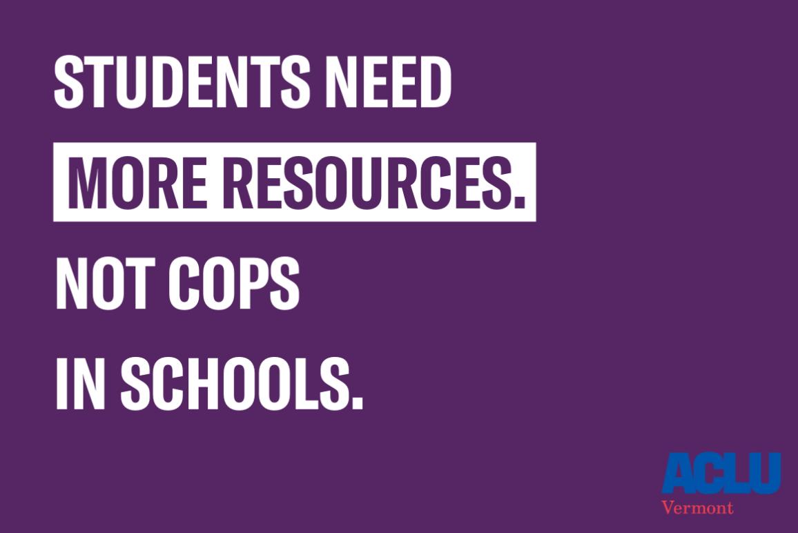 resources not cops in schools