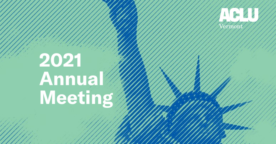 2021 Annual Meeting, ACLU Vermont logo